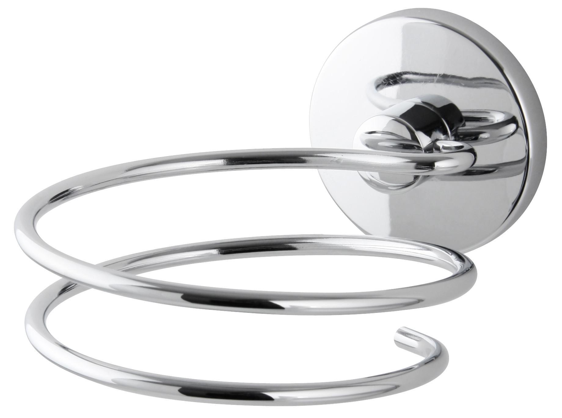 Haartrocknerhalter Vision in Chrom - Chromfarben, Metall (10/8/13cm) - MÖMAX modern living