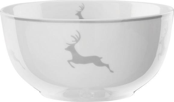 Müslischalen My Deer 2-er Set - Weiß/Grau, MODERN, Keramik (14/7,5cm) - Mömax modern living