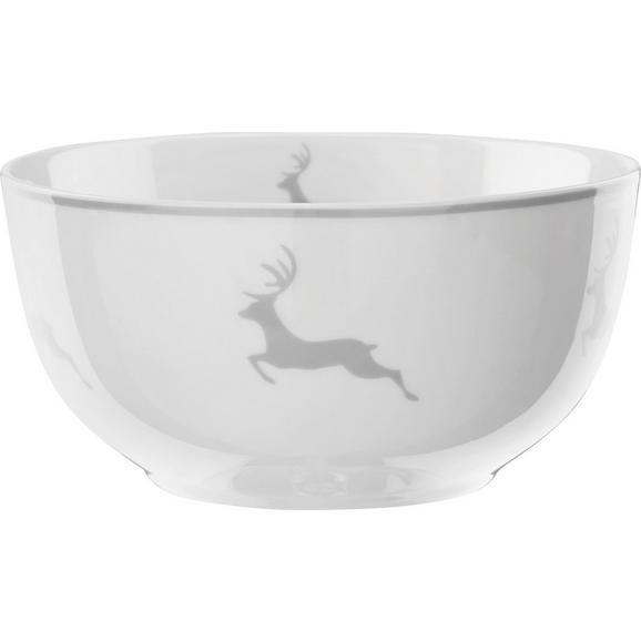 MÜSLISCHALEN MY DEER 2er Set - Weiß/Grau, MODERN, Keramik (14/7,5cm) - Bessagi Home