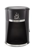 Kaffeeautomat inkl. Coffee-to-go Beche - Edelstahlfarben/Schwarz, MODERN, Kunststoff/Metall (15,5/23,5/15cm) - BOMANN