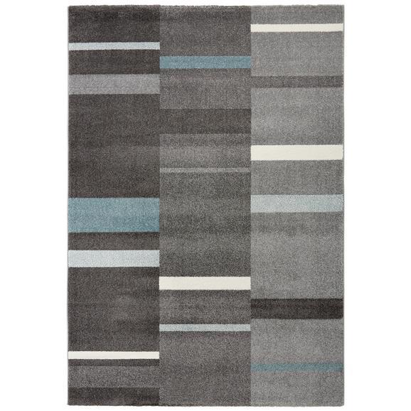 Webteppich Sofia Grau/Blau/Weiß 160x230cm - Blau/Weiß, Textil (160/230cm) - Mömax modern living