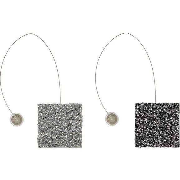 Privez Za Zaveso Strass - črna/srebrna, Trendi, umetna masa (6cm) - Mömax modern living