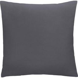 Kissen in Dunkelgrau 'Diane' ca. 50x50cm - Dunkelgrau, KONVENTIONELL, Textil (50/50cm) - Bessagi Home
