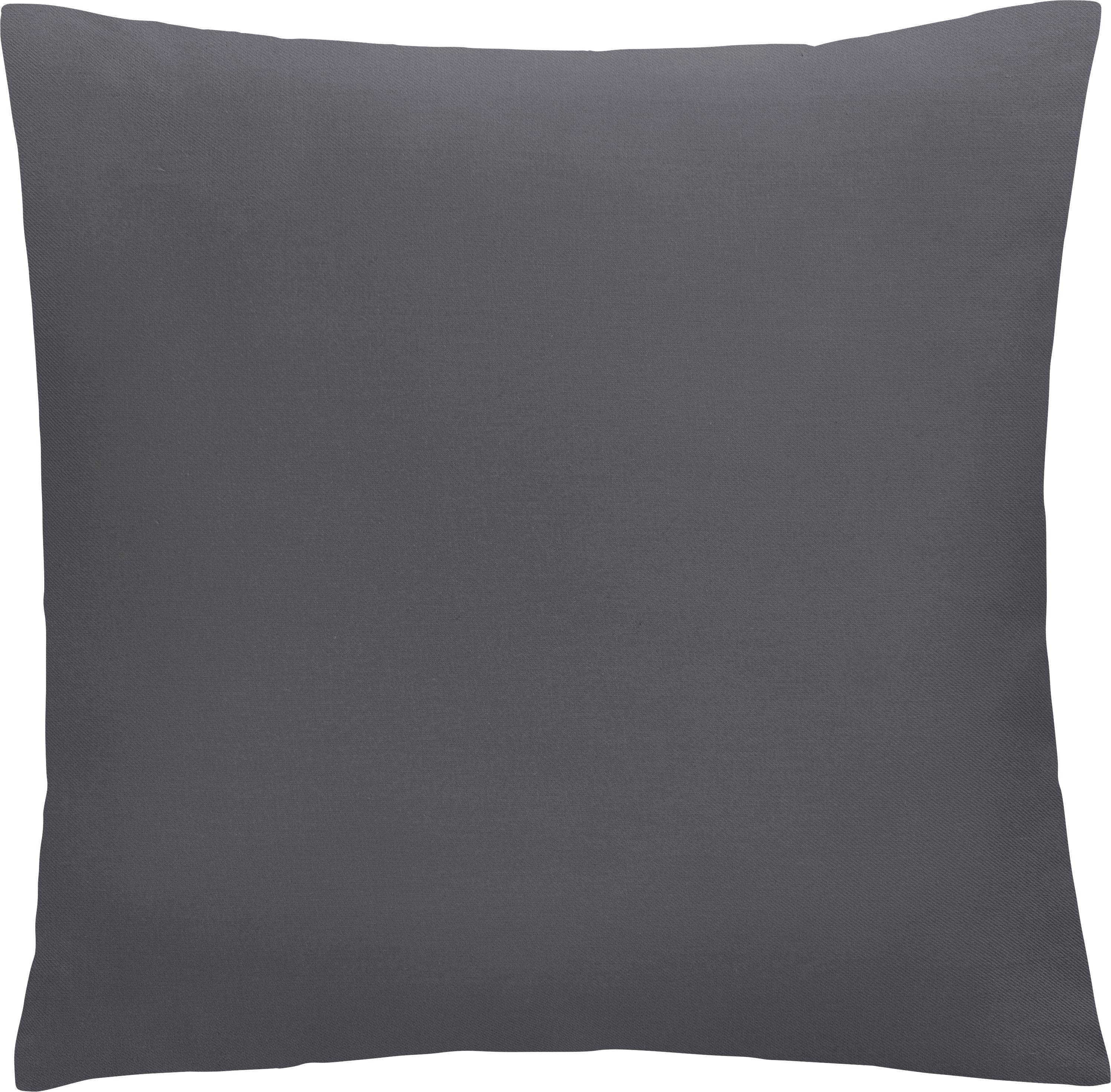 Zierkissen Diane 50x50cm - Dunkelgrau, KONVENTIONELL, Textil (50/50cm) - MÖMAX modern living