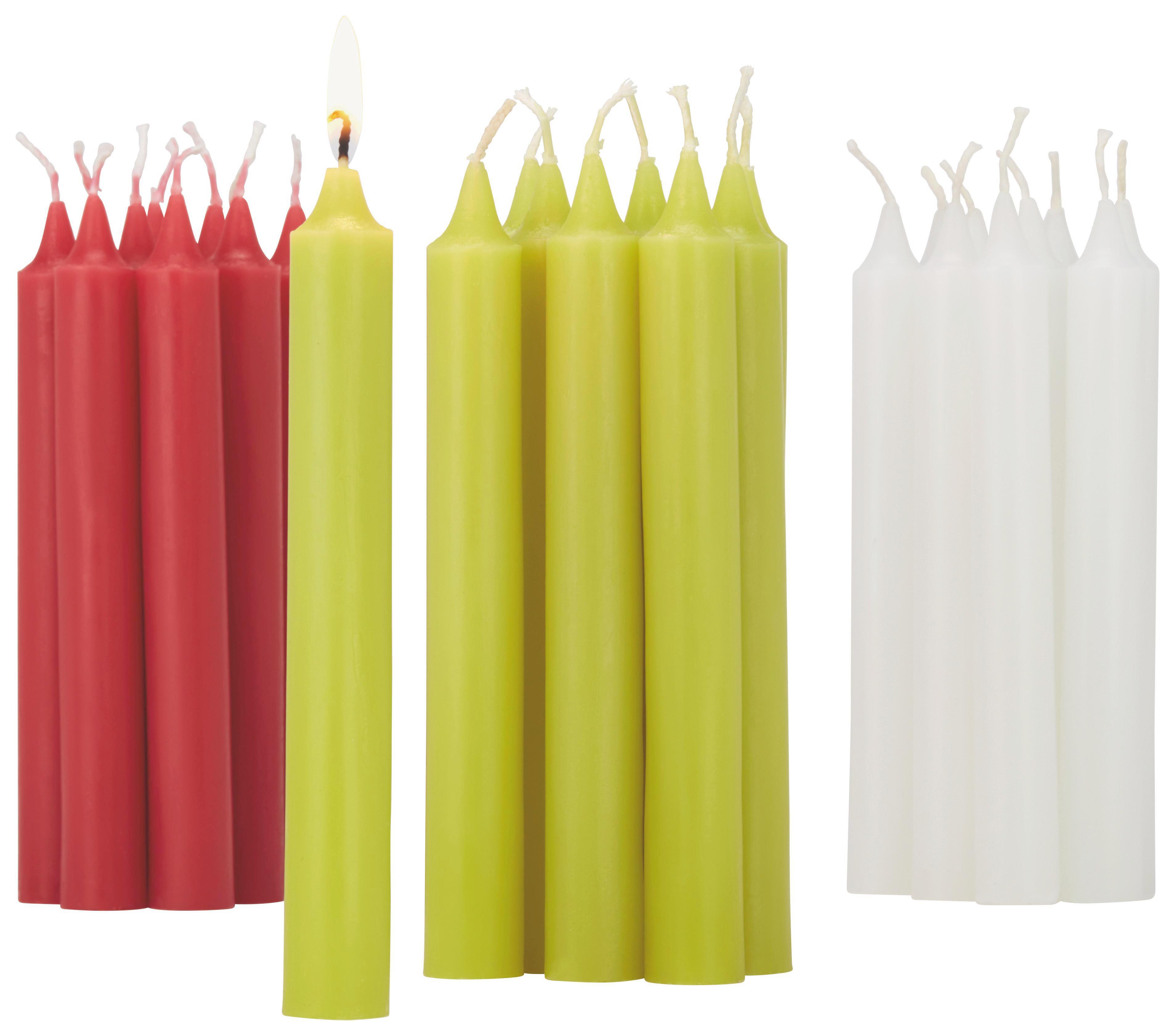 Gyertya Henry - 10 Db/csomag - rózsaszín/fehér (2,2/17,7cm) - MÖMAX modern living