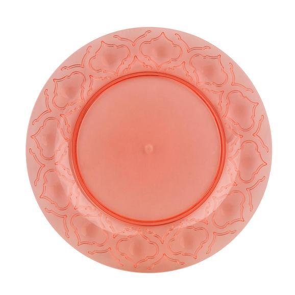 Lapostányér Azza - Pink/Sárga, Lifestyle, Műanyag (24cm) - Mömax modern living