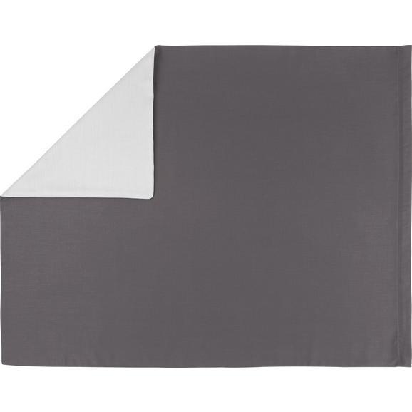 Kissenhülle Belinda ca. 80x80cm - Anthrazit/Hellgrau, Textil (80/80cm) - Premium Living