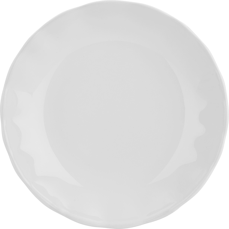 Mélytányér Pauline - fehér, romantikus/Landhaus, kerámia (25cm) - ZANDIARA