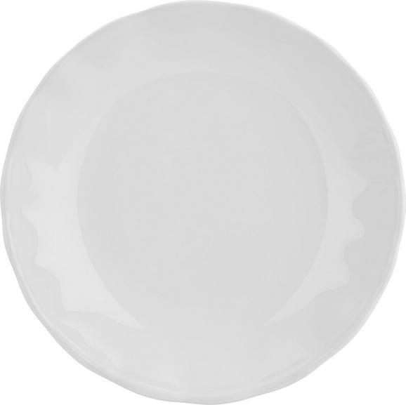 Suppenteller Pauline in Weiß - Weiß, ROMANTIK / LANDHAUS, Keramik (25cm) - Zandiara