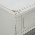 Buffet Riccardo - Weiß/Grau, MODERN, Glas/Holz (90/184/43cm) - Modern Living