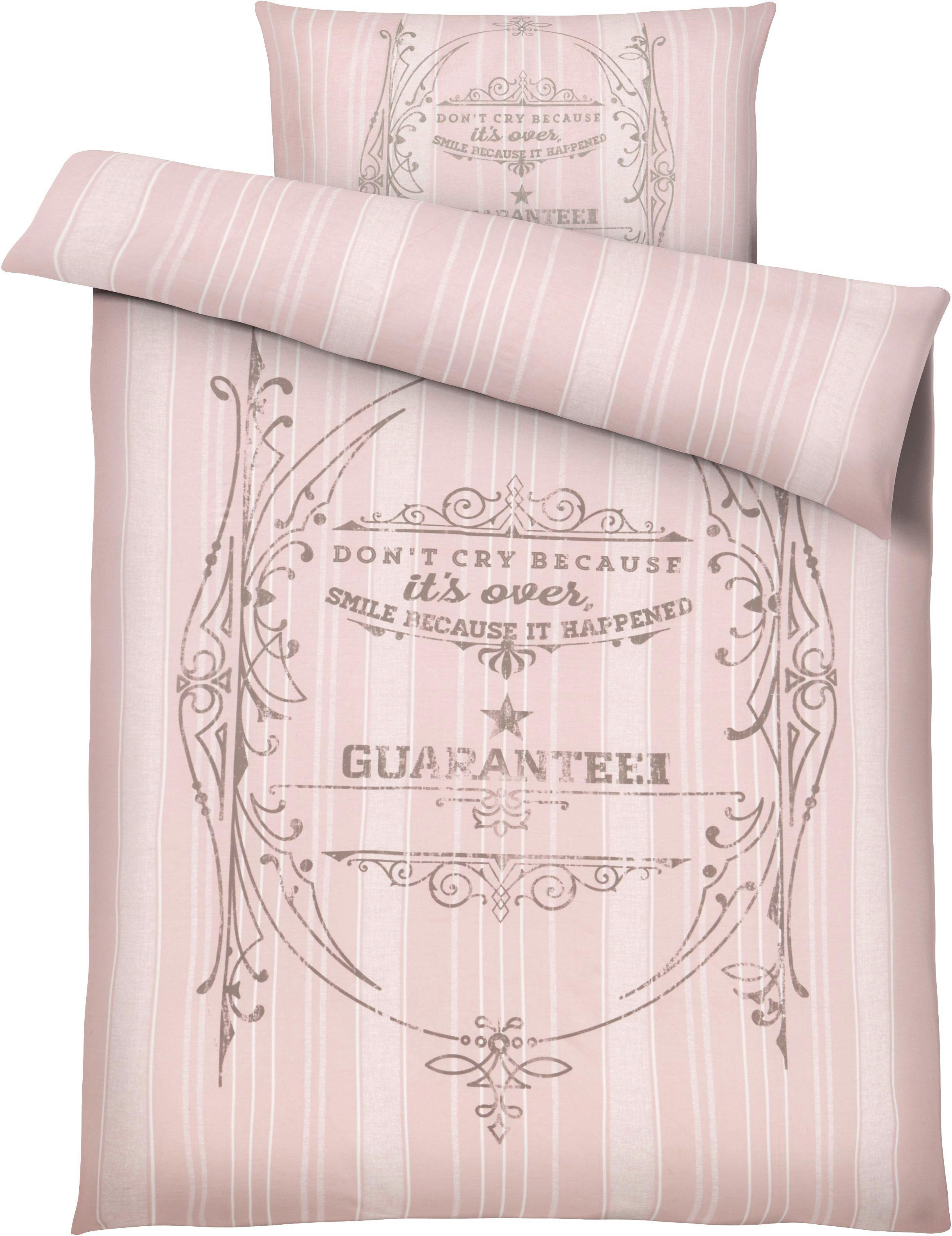 Ágyneműhuzat-garnitúra Elise - rózsaszín, romantikus/Landhaus, textil (140/200cm) - MÖMAX modern living