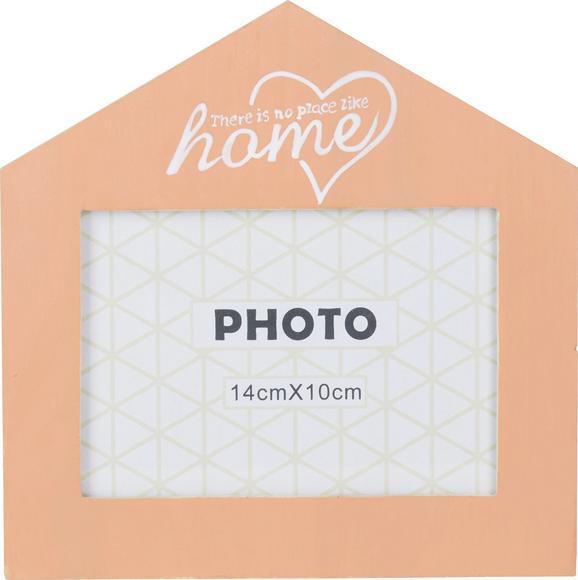 Okvir Za Slike Home - bela/oranžna, steklo/les (18/18cm) - Mömax modern living