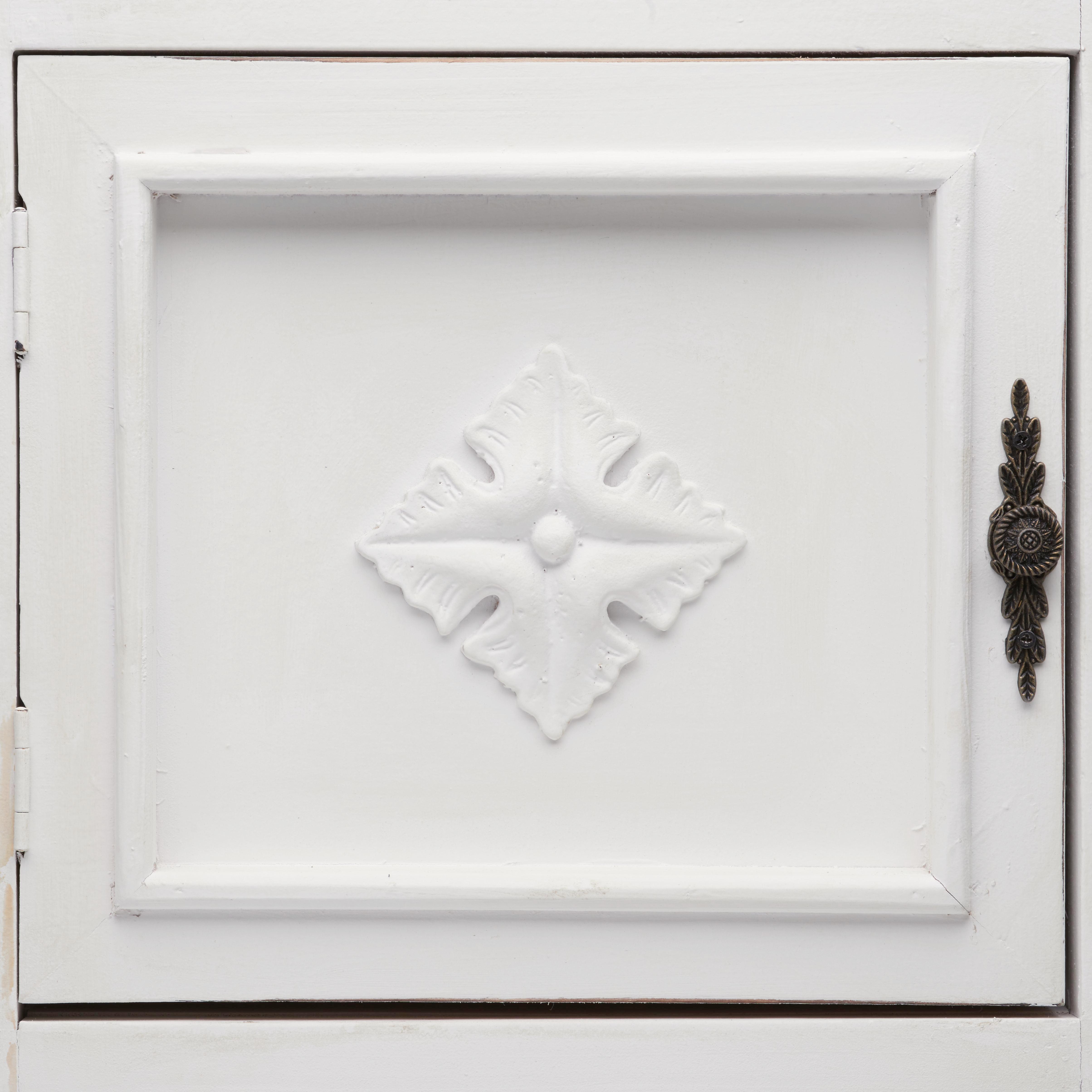 Vitrine Joelle - Weiß, ROMANTIK / LANDHAUS, Glas/Holz (71/138/35cm) - MÖMAX modern living