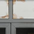 Kredenz Gitte - Weiß/Grau, MODERN, Glas/Holz (70/176/33,5cm) - Mömax modern living