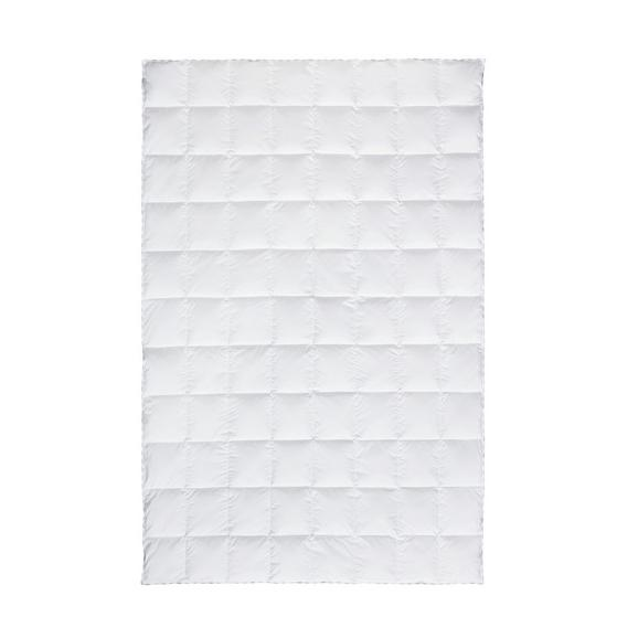 Kazettás Paplan Közepesen Meleg - Fehér, Textil (135/200cm) - Premium Living