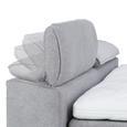 Boxspringbett in Anthrazit ca. 160x200cm - Eichefarben/Anthrazit, KONVENTIONELL, Holz/Textil (160/200cm) - Premium Living