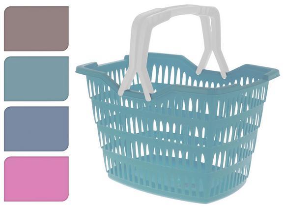 Einkaufskorb Liv Verschiedene Farben - Taupe/Blau, KONVENTIONELL, Kunststoff (43/31/30cm)