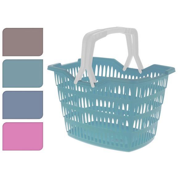 Nakupovalna Košara Liv - petrolej/modra, Konvencionalno, umetna masa (43/31/30cm)