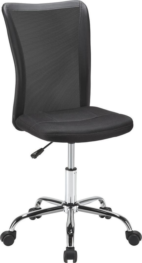 Forgószék Surf - fekete, modern, műanyag/textil (42/88-98/58,50cm) - MÖMAX modern living