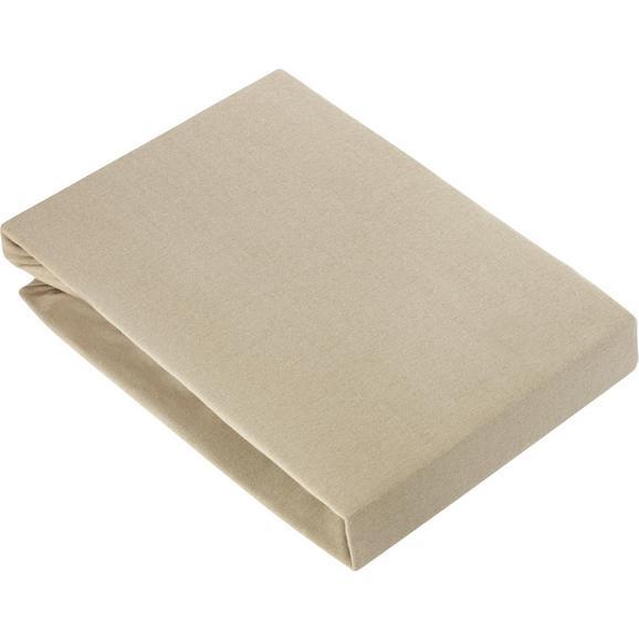 Gumis Lepedő Basic 150-160/200 - Taupe, Textil (150/200cm) - Mömax modern living