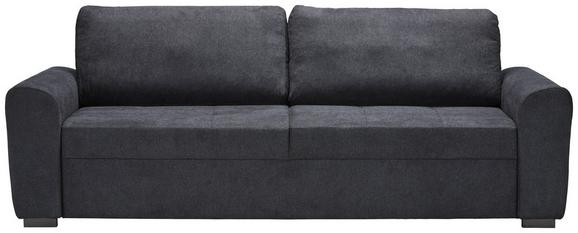 Dreisitzer-Sofa Anthrazit - Anthrazit/Schwarz, MODERN, Kunststoff/Textil (232/95/74cm) - Modern Living