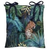 Sitzkissen Jungle ca. 40x40cm - Goldfarben/Schwarz, LIFESTYLE, Textil (40/40cm) - Mömax modern living
