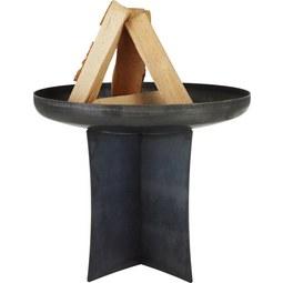 Feuerstelle Ingo in Schwarz aus Stahl - KONVENTIONELL, Metall (600/520cm)