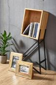 Regal Braun/Schwarz - Schwarz/Braun, LIFESTYLE, Holz/Metall (52/90/20cm) - Zandiara