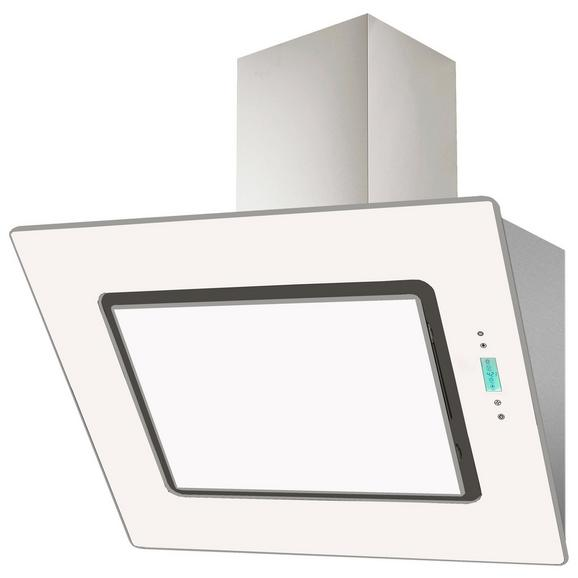 DUNSTABZUGSHAUBE CH 99040-90 W - Edelstahlfarben/Weiß, Basics, Glas/Metall (90/90-126/41,8cm) - Livetastic