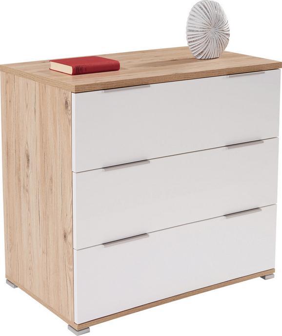 Komoda Florenz - aluminij/bela, Konvencionalno, umetna masa/leseni material (100,6/80/46cm) - Mömax modern living