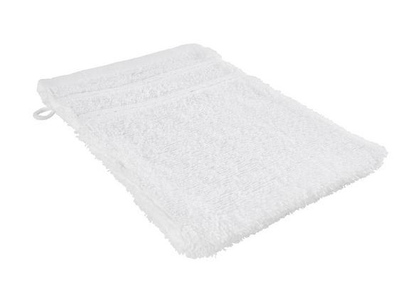 Waschhandschuh Melanie in Weiß - Weiß, Textil (16/21cm) - Mömax modern living