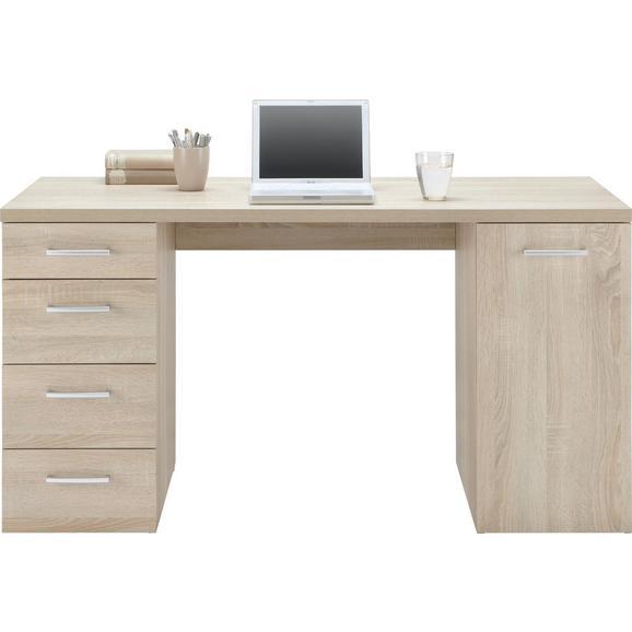 Schreibtisch Sonoma Eiche - Anthrazit, MODERN, Kunststoff (139/74/60cm) - Mömax modern living