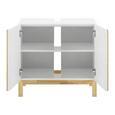Waschbeckenunterschrank Weiß/ Holz 'Rico' - Naturfarben/Weiß, MODERN, Holz (70/65/40cm) - Bessagi Home