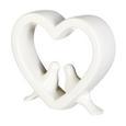 Pasăre De Decor Diana - alb, Romantik / Landhaus, ceramică (16/4/14cm) - Zandiara