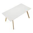 Esstisch in weiß ca. 160x90 cm 'Frieda' - Buchefarben/Weiß, MODERN, Holz/Holzwerkstoff (90/160/76cm) - Bessagi Home