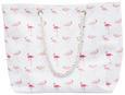 Strandtasche Flamini in Weiß - Pink/Weiß, Textil (57,5/40cm) - Mömax modern living
