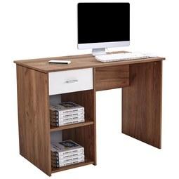 Pisalna Miza Kubek 2 - temno rjava, Moderno, leseni material (110/75/50cm) - Mömax modern living