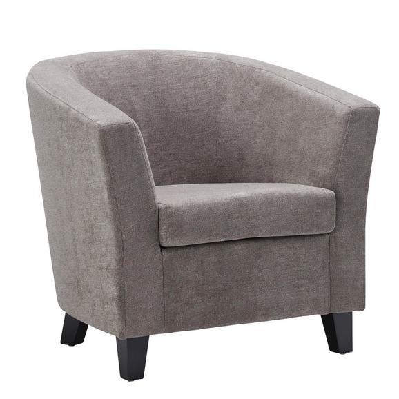 Fotelja Enya - smeđa/crna, Modern, drvo/tekstil (77/70/68cm) - Modern Living