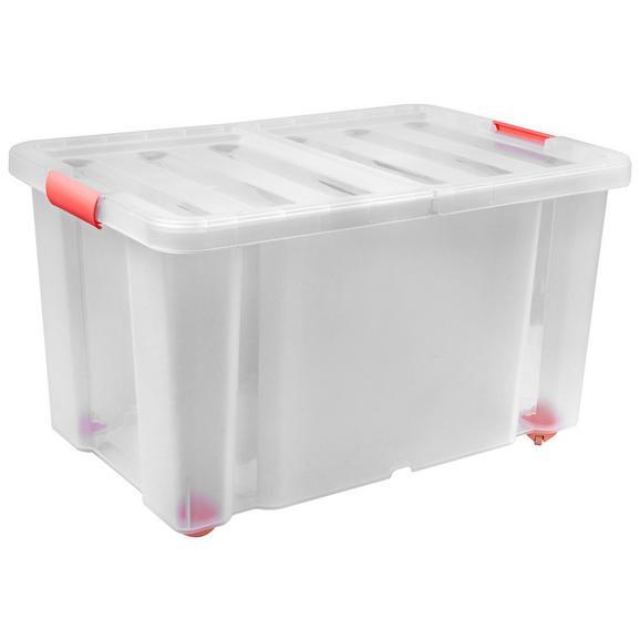 Aufbewahrungsbox Sanshui verschiedenen Farben - Bordeaux/Rosa, KONVENTIONELL, Kunststoff (59,8/39,4/34,8cm)