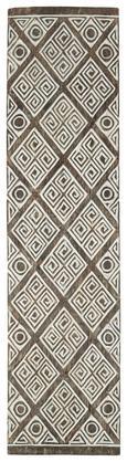Wanddeko Gede Natur/Weiß - Naturfarben/Weiß, Holz (25/100/3cm) - Zandiara