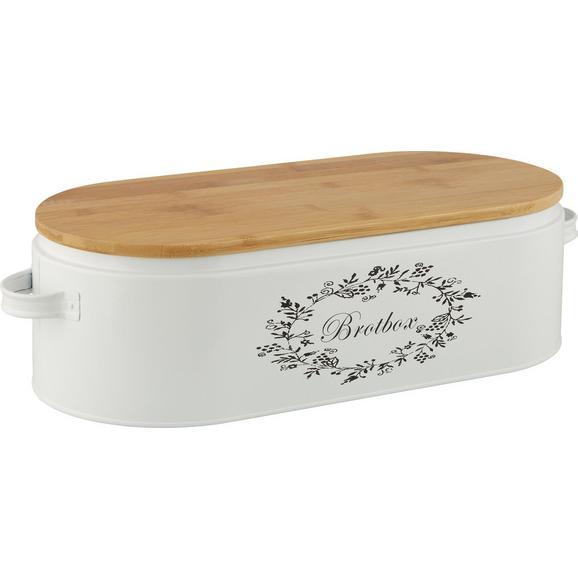 Škatla Za Kruh Lore - naravna/bela, Romantika, kovina/les (43,5/20,5/13cm) - Zandiara
