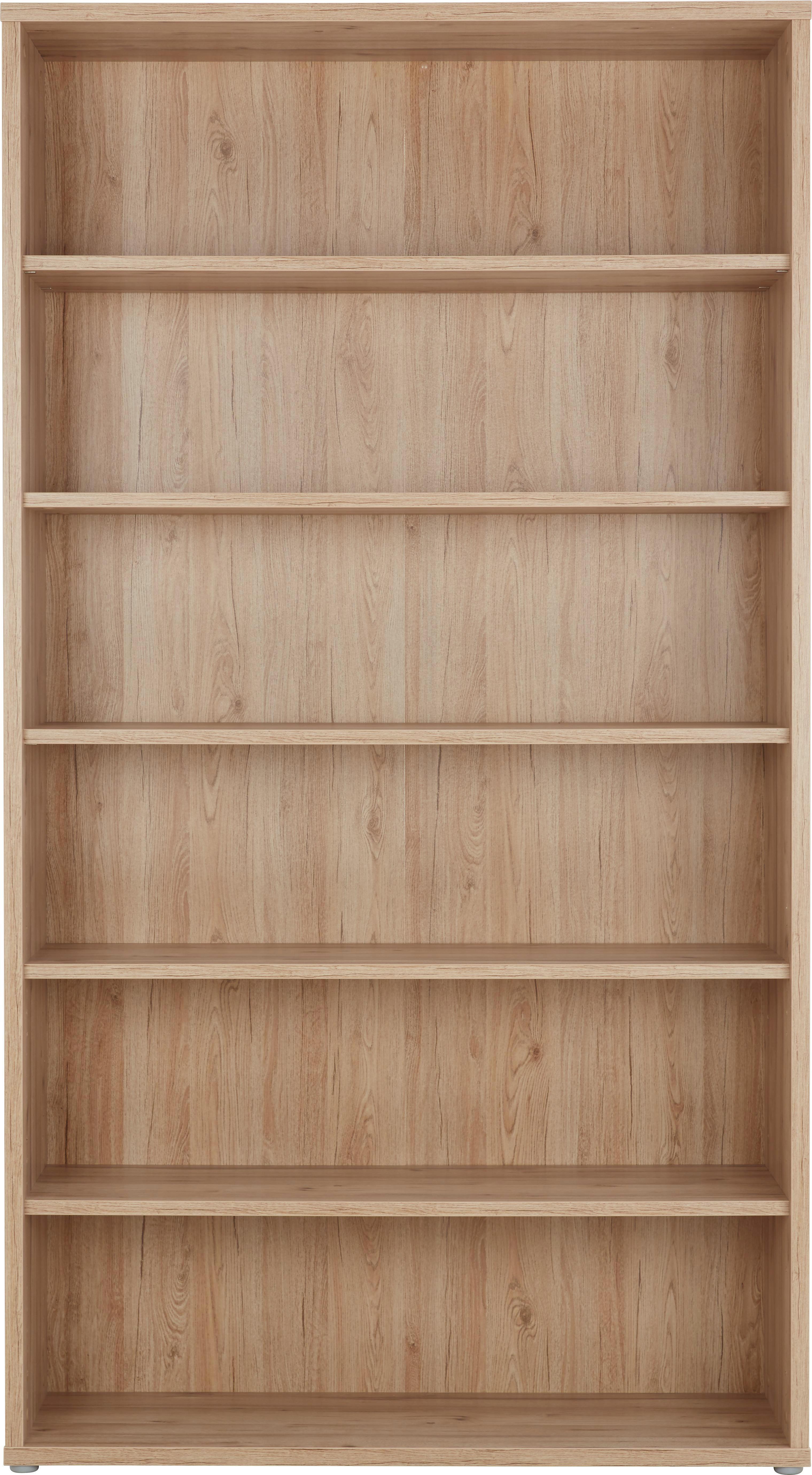 Regal In Eichefarben   Eichefarben, MODERN, Holzwerkstoff/Kunststoff  (120/217/