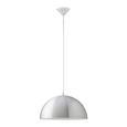 Pendelleuchte Aron - Silberfarben/Weiß, Metall (40/130cm) - Mömax modern living