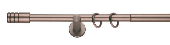 Vorhangstangenset Rillcube Bronzefarben - Bronzefarben, Metall (210-400cm) - MÖMAX modern living