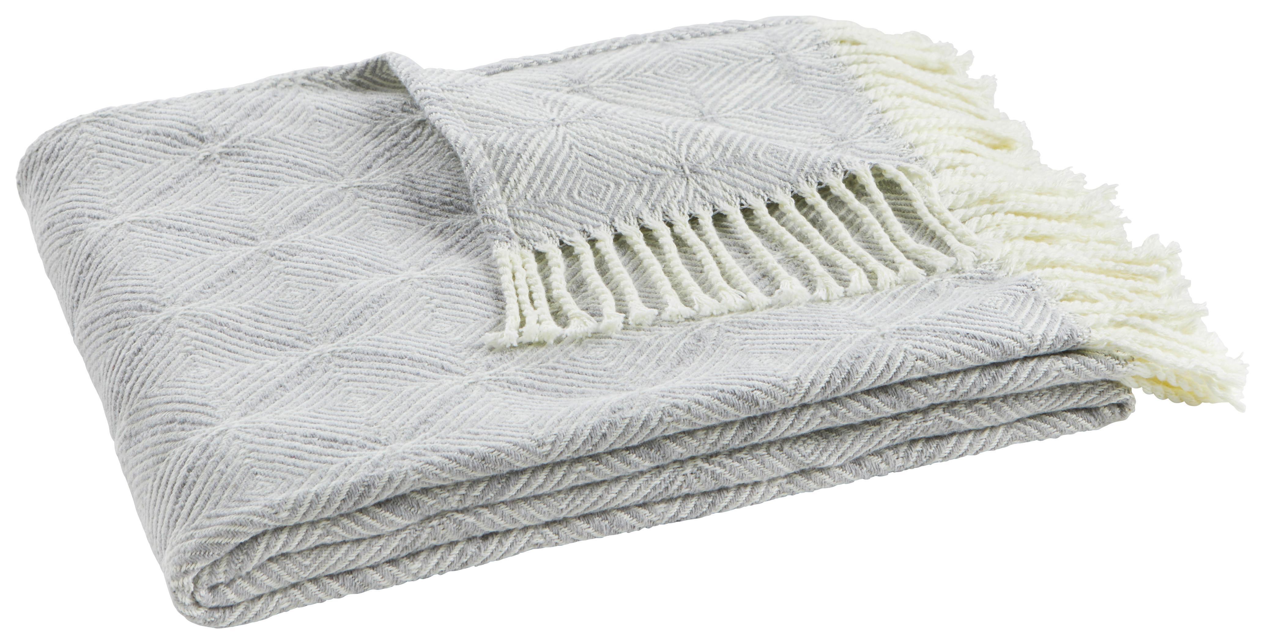 Image of Decke Samira in Grau/Natur ca. 130x170cm