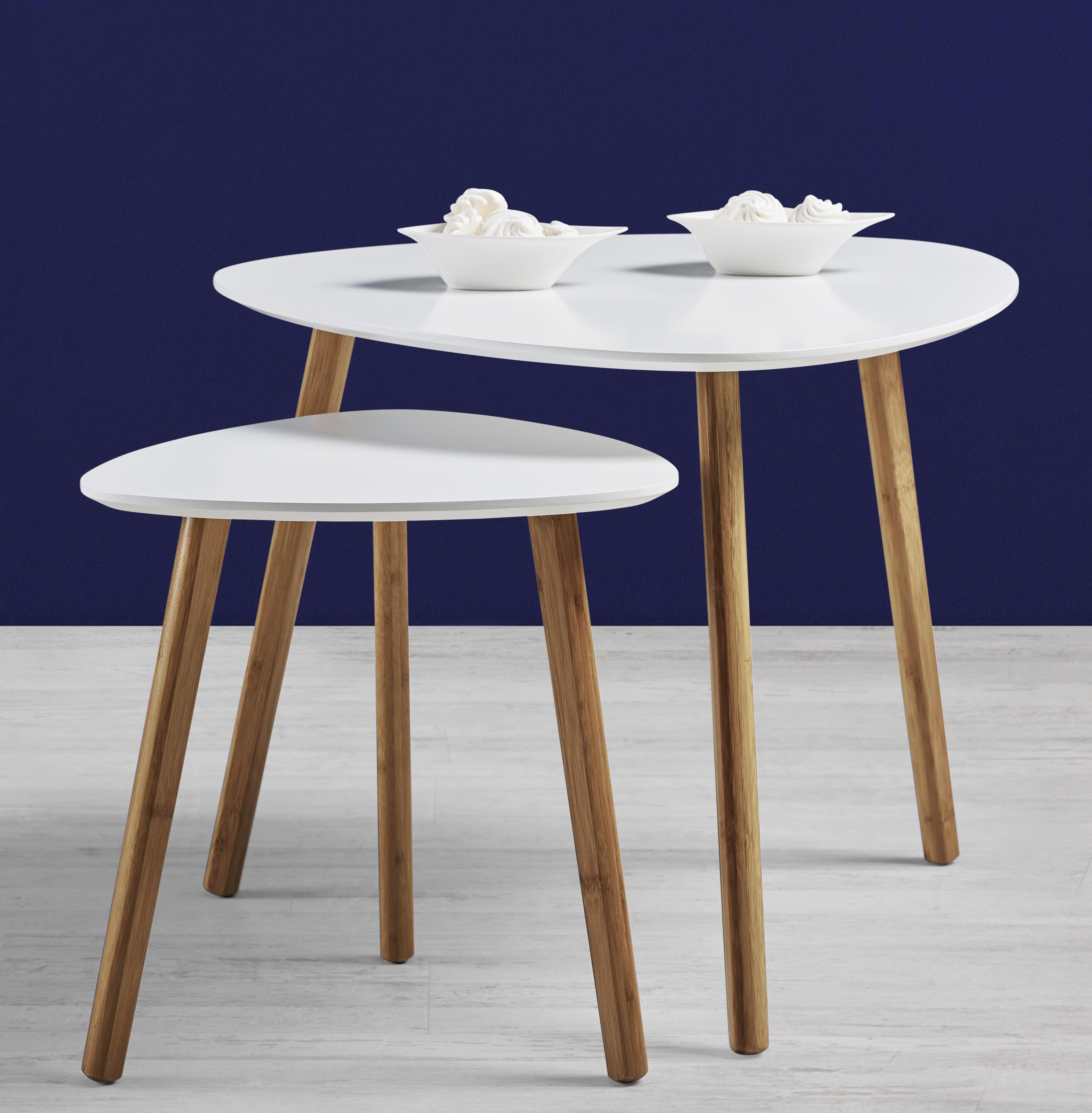 Couchtisch Antje 2-tlg. - Braun/Weiß, MODERN, Holz (60/40/60/40/48/40cm) - MÖMAX modern living