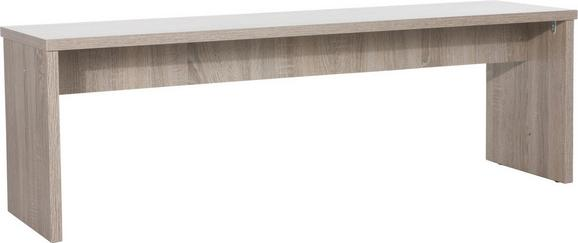 Sitzbank Eiche Trüffel - Trüffeleichefarben, MODERN, Holzwerkstoff (138/45/37cm) - MÖMAX modern living