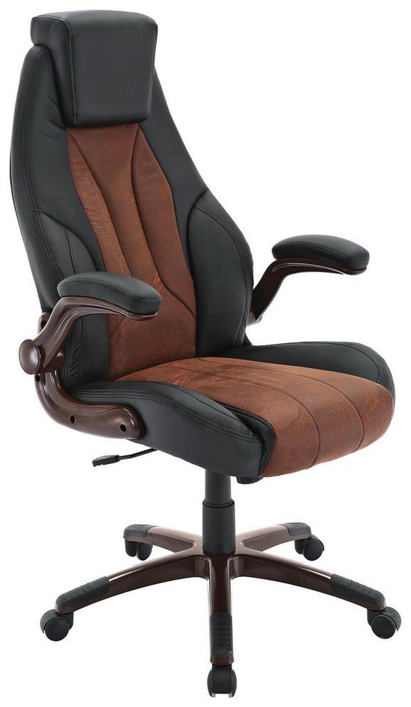 Pisarniški Stol Rafael - črna/rjava, Moderno, kovina/umetna masa (69/115-125/77cm) - Mömax modern living