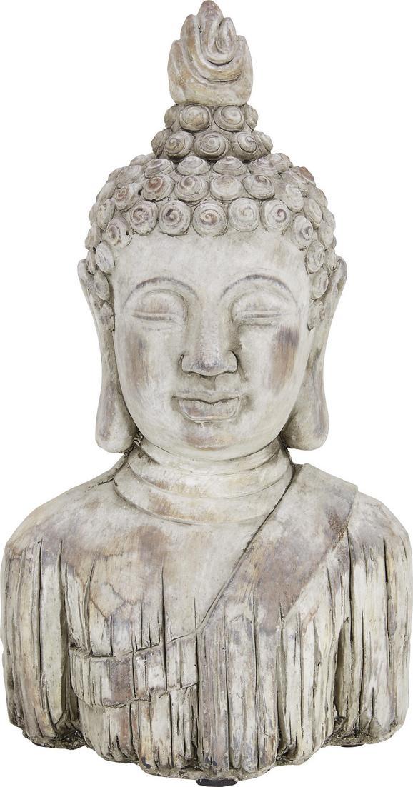 Buddhakopf Buddha aus Stein - Braun, KONVENTIONELL, Stein (21,5/13/37cm) - Mömax modern living