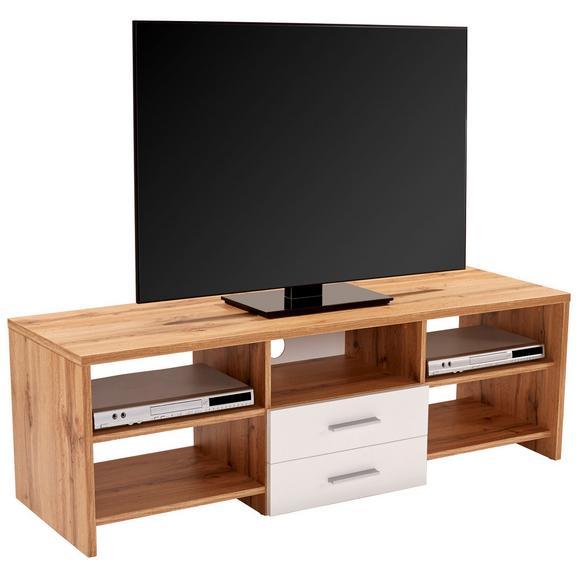 Masă Pentru Televizor Tico - alb/culoare lemn stejar, Modern, plastic/lemn (150/45/40cm)